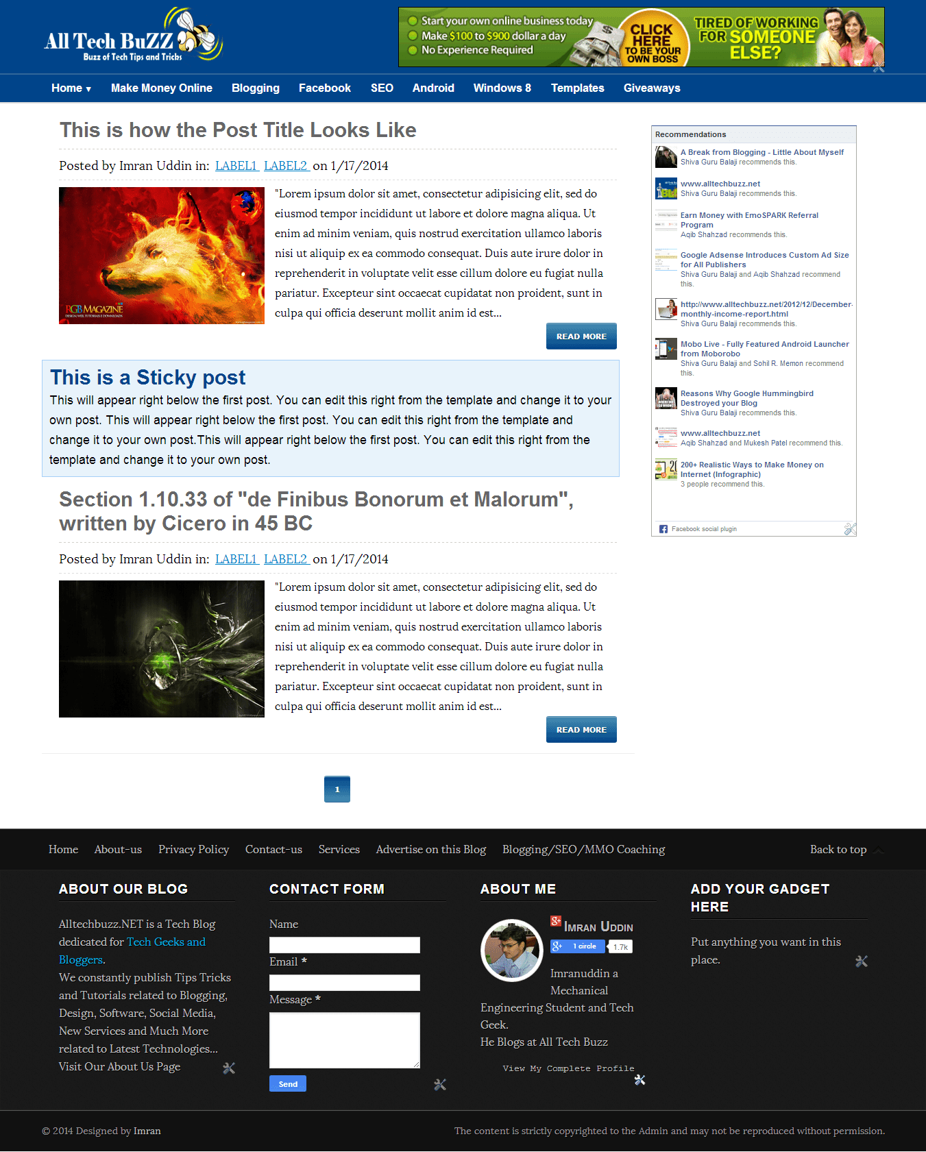 most advanced atb responsive blogger template