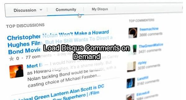 disqus load on demand