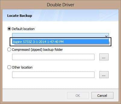 driver backup choosing