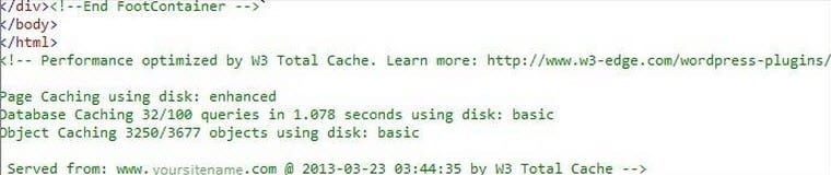 page source code to check page cache