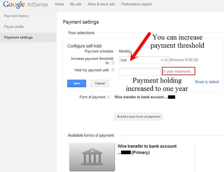 wire transfer to indian google adsense publishers