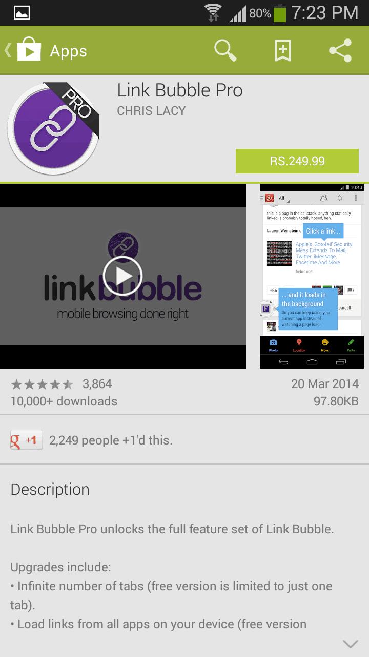 Link-bubble-pro