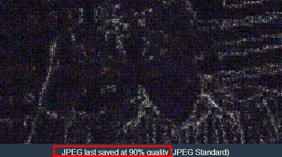 jpeg quality test on fotoforensics