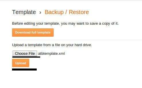 restore a template in blogger