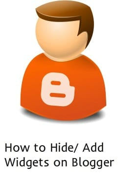 How to Display/Hide Widgets in Right Side on Blogger