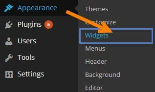widgets on wordpress