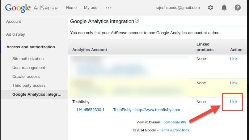 google analytics links