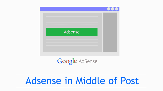 How To Place Adsense Ads In Middle of The Post in Blogger-Any Template Work Around Method