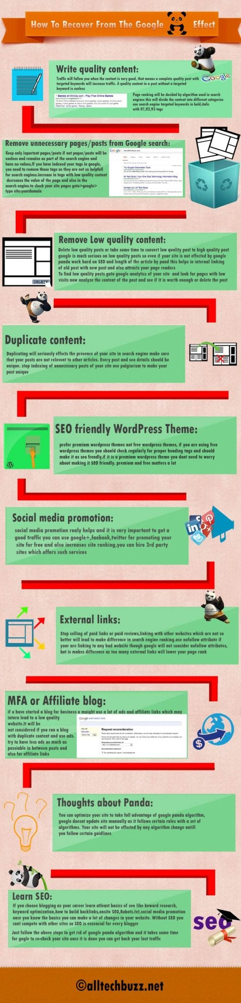 Google themes panda - Below Is An Infographic On How To Recover From Google Panda Effect