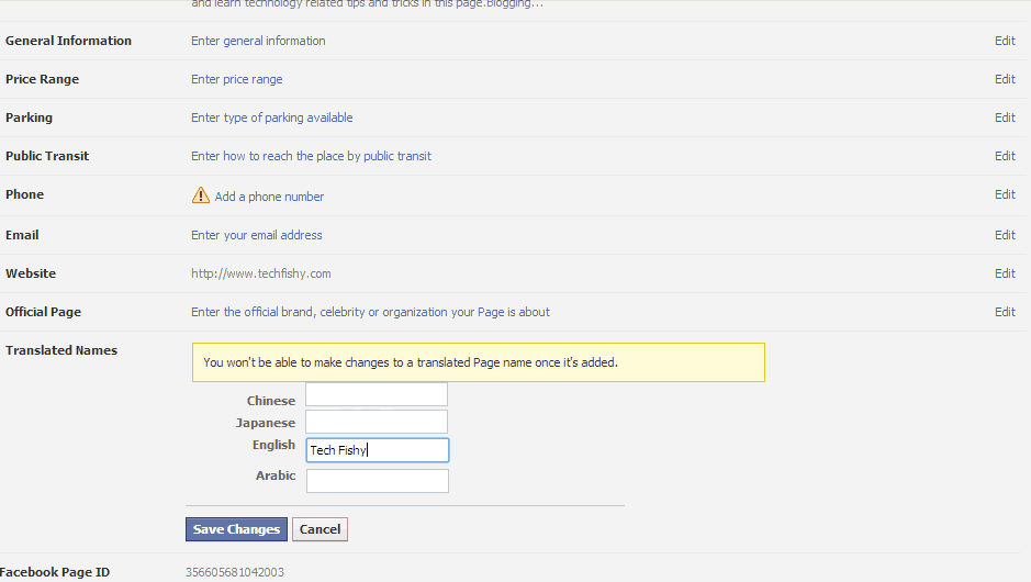 Change fb page name crossing 200 likes
