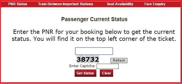 PNR - Indian Railway Passenger reservation Enquiry