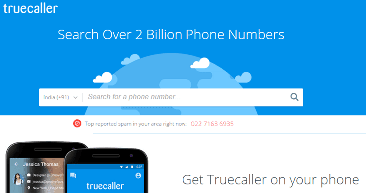 TrueCaller - Search a Mobile Number