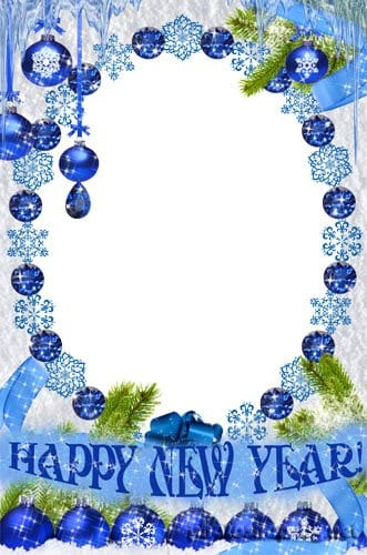 happy new year photo frames free download
