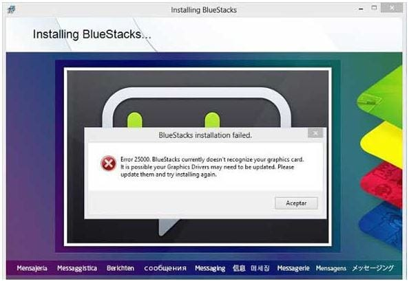 Bluestacks error