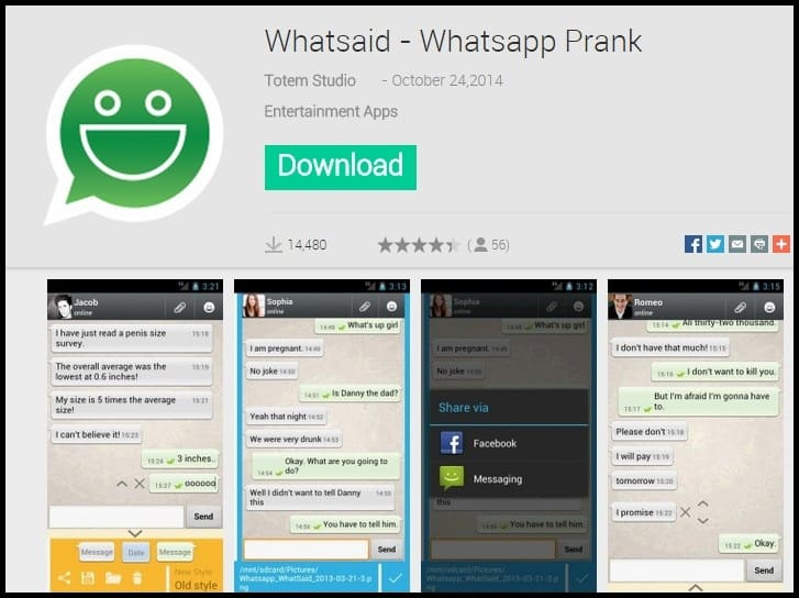 Whatsaid - Whatsapp Prank app for whatsapp