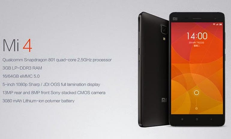 xiaomi mi4 to be launched on january 28   flash sale on