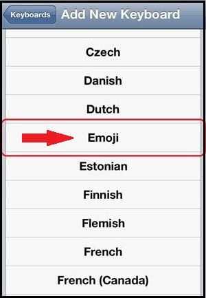 Use emoticons in WhatsApp in iPhone with iOS 7: