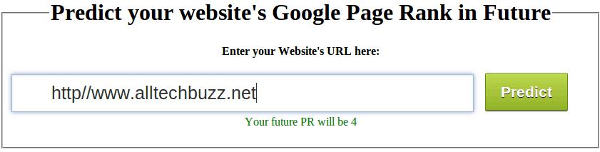how to predict future google pr