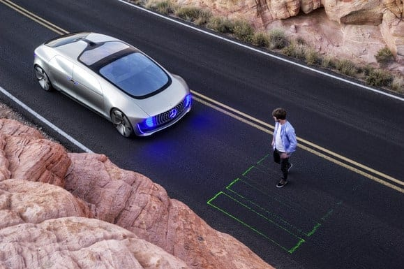 Futuristic Mercedes-Benz self-driving car has world premiere at CES