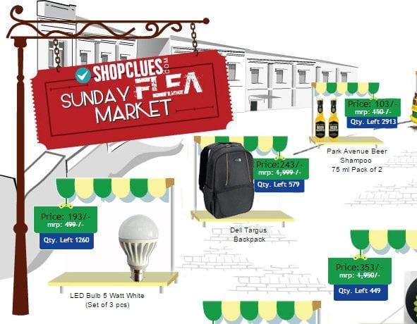 shopclues sunday market flea deals
