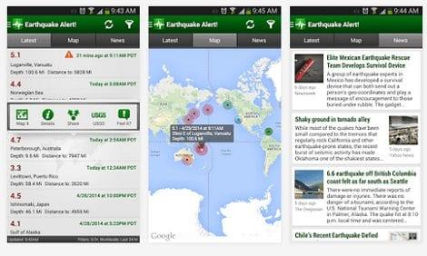 eathquake app