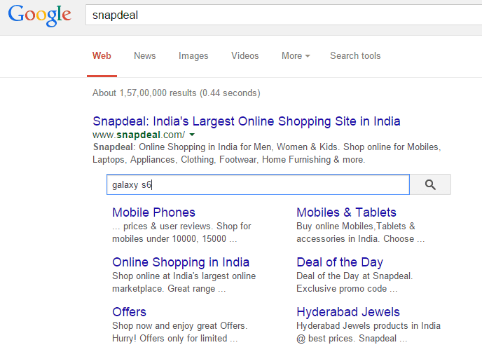 snapdeal example