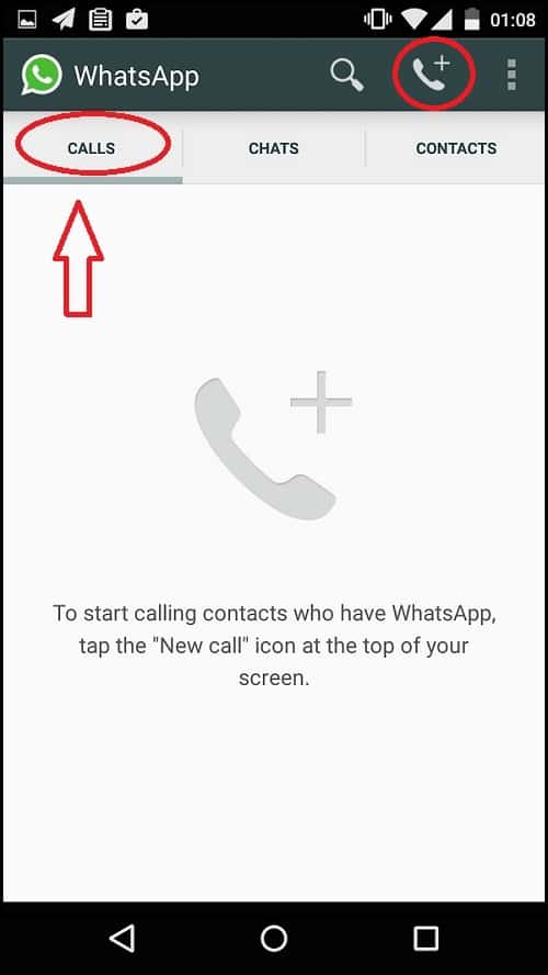 Whatsapp voice Call Activation steps