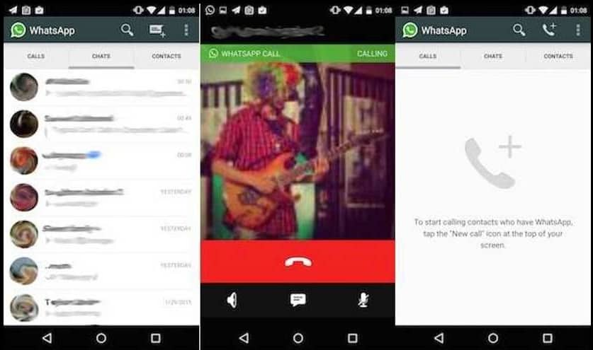 whatsapp voice calling feature