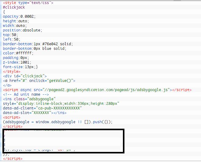 google clickhijack code