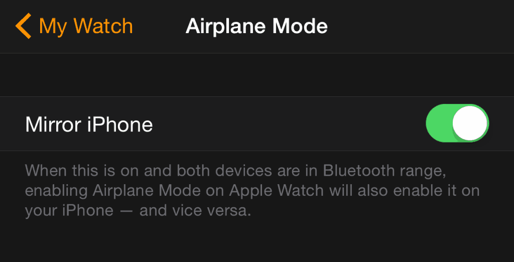 Activate Airplane mode on your Apple Watch