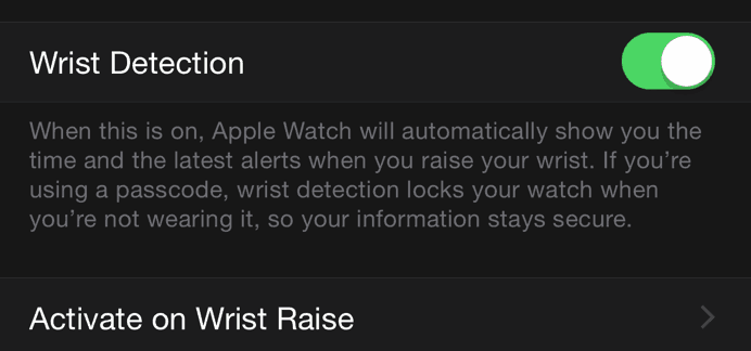 Disable Wrist Detection-Extends battery life in Apple watch