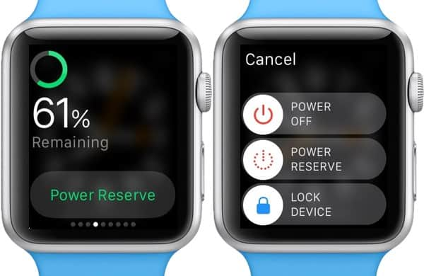 Extend battery life - Turn on Power Reserve Mode in Apple Watch