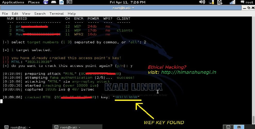 Hack WEP Wi-Fi password - Techniques to hack Wi-Fi Network