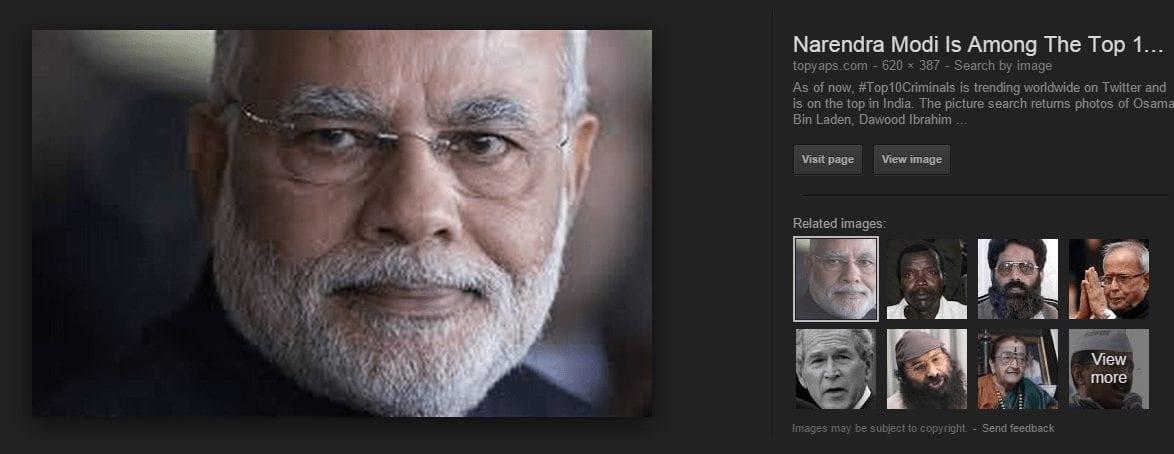 narendra modi on topyaps