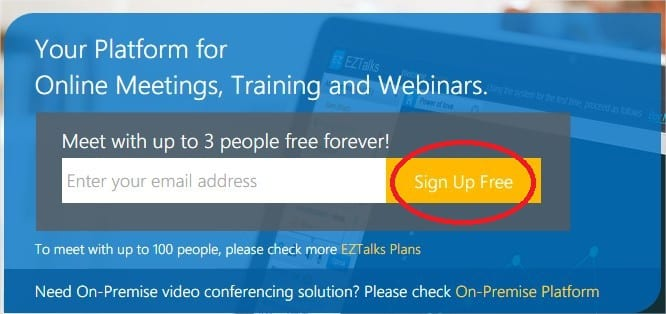 Register EZTalks