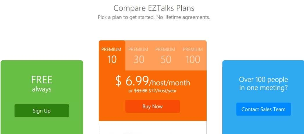 Pricing & Plan  EZTalks