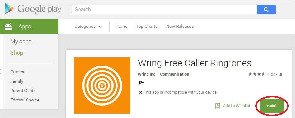 Wring Free Caller Ringtones Install