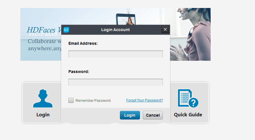 eztalks Login page