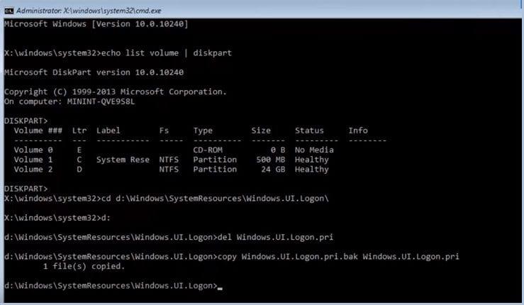 Command Prompt - Fix Login Issues