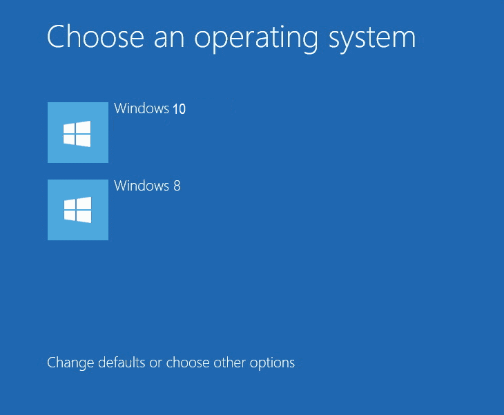 How to dual boot windows 10 alongside windows 8 for Choosing new windows
