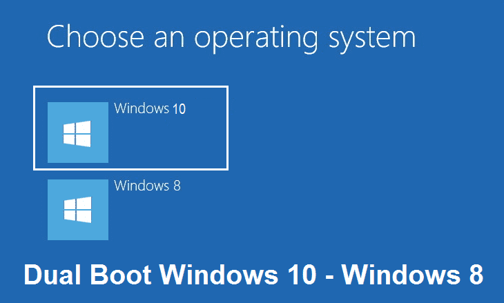 Dual boot Windows 10 - Windows 8