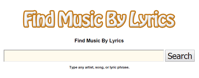 Find Music By Lyrics
