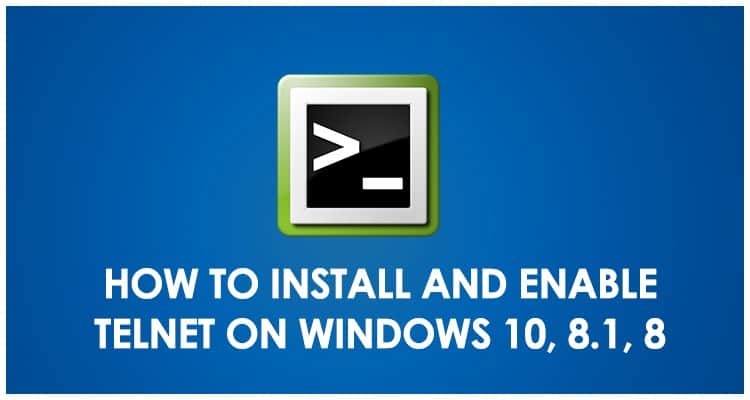 How to Install Telnet on Windows 10-8