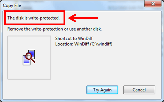 How to fix Disk is Write Protected Error