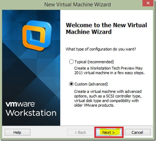 Install Windows 10 on VMware Workstation