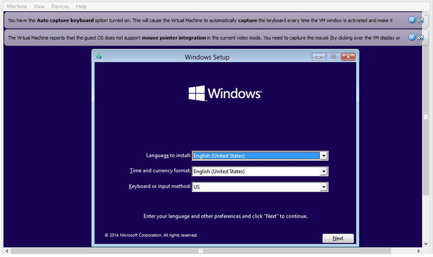 Install Windows 10 - setup