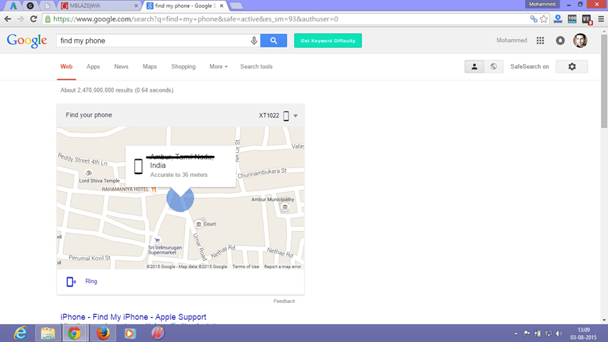 Locate Phone Using Android Device Manager