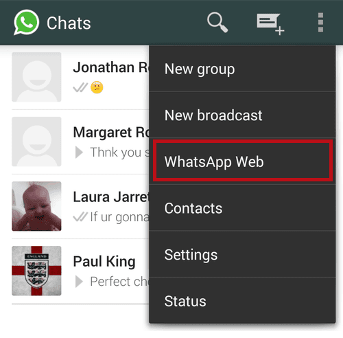 Settings - WhatsApp Web