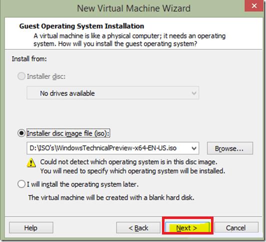Specify path - vmware workstation