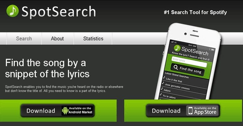 SpotSearch - Music Recognition app